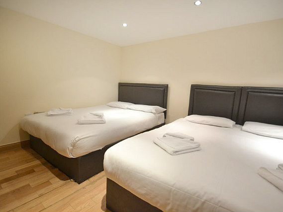 Quad rooms at Hyde Park Suites are the ideal choice for groups of friends or families