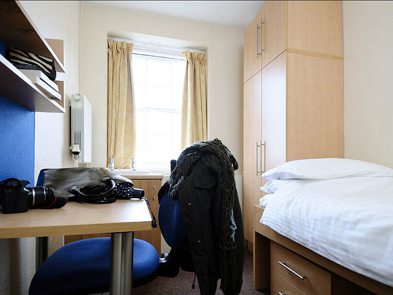 Rest easy in a comfortable bed in your room at Goldsmiths House