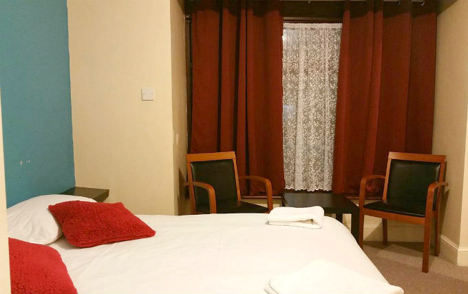 A double room at Best Inn Hotel