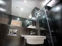 A typical shower system at The W14 Hotel London