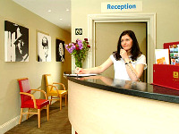 The Reception at Comfort Inn Edgware Road