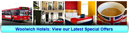 Woolwich Hotels: Book from only £13.06 per person!