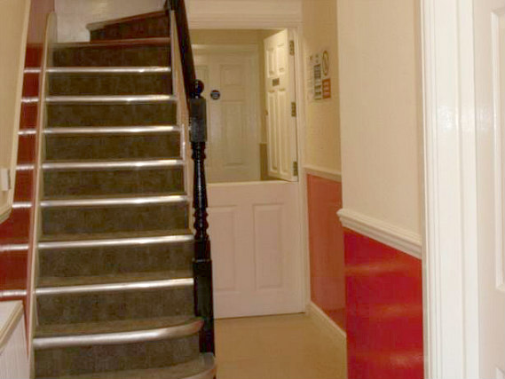 The hallway at Clapham Guest House