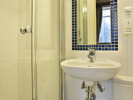 Bathrooms are stylish and modern at Jesmond Dene Hotel