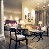 A Luxurious Double Room at Langham Hotel London
