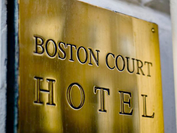 The Boston Court Hotel's welcoming entrance