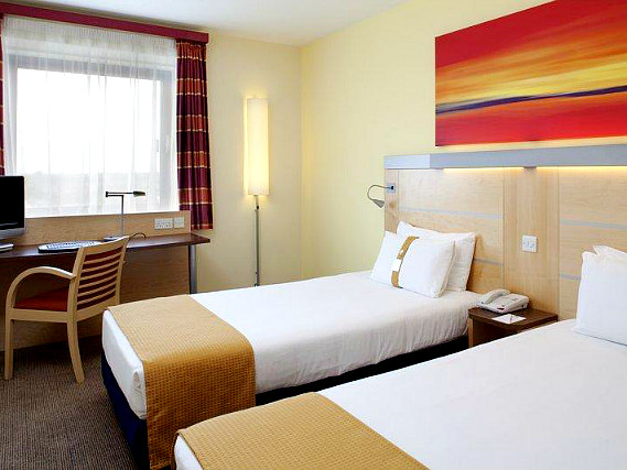 A twin room at Holiday Inn Express London Newbury Park is perfect for two guests
