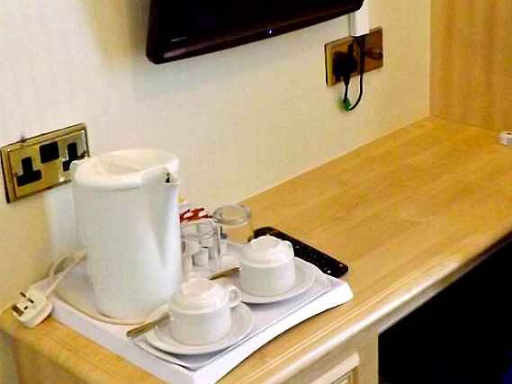 Enjoy a hot drink thanks to the tea/coffee making facilities in your room