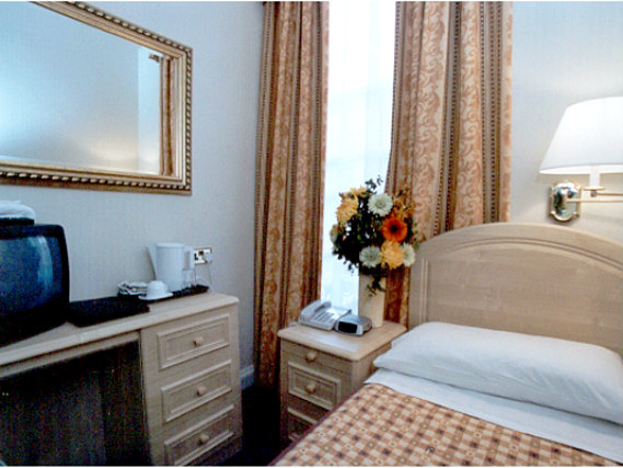 Single rooms at The Fairway Hotel London provide privacy