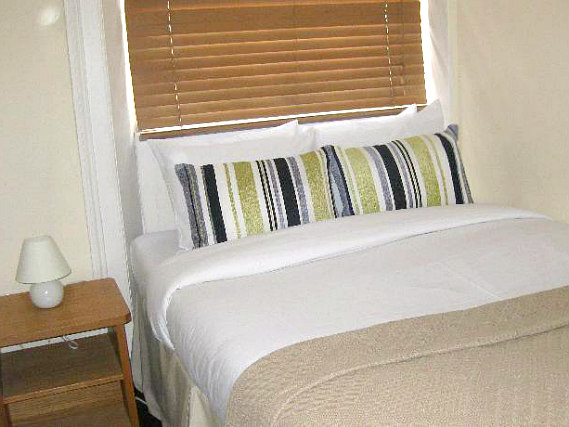 A typical double room at Assaha Hyde Park Hotel