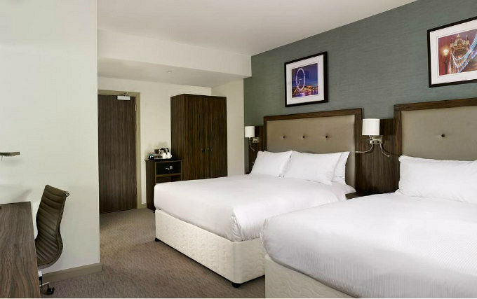 Quad room at DoubleTree by Hilton London Angel Kings Cross