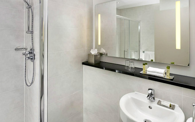 A typical shower system at DoubleTree by Hilton London Angel Kings Cross