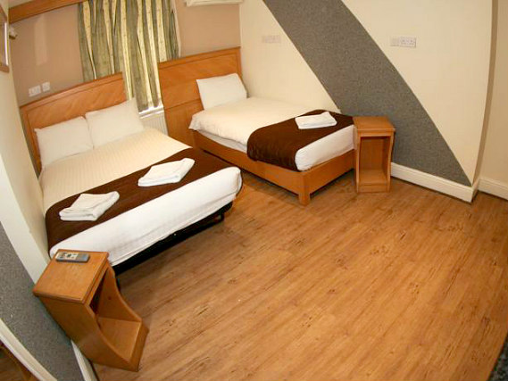 Triple rooms are spacious and ideal for sharing with friends and family