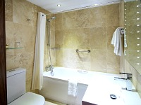 Bathrooms are stylish and modern at Best Western Palm Hotel London