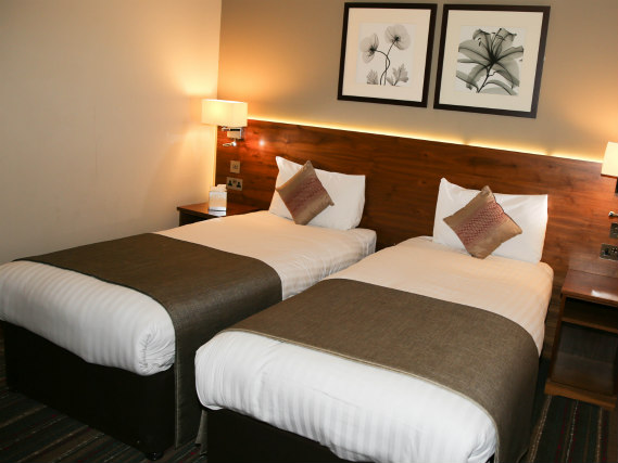 A twin room at Best Western Palm Hotel London is perfect for two guests