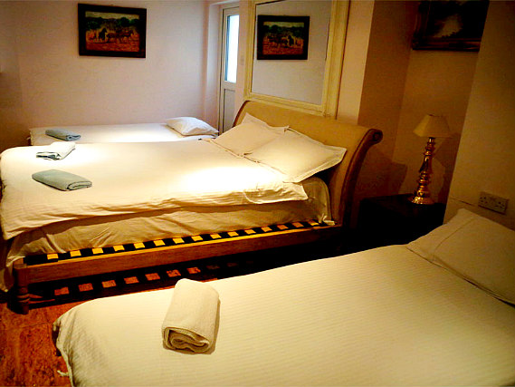 Quad rooms at Aron Guest House are the ideal choice for groups of friends or families