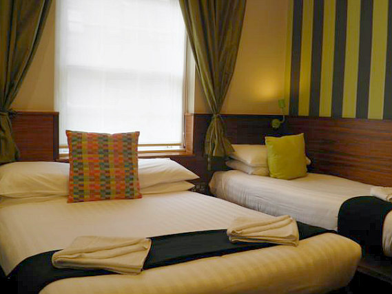Triple rooms at California Hotel London are the ideal choice for groups of friends or families