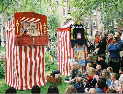 Covent Garden May Fayre and Puppet Festival at St Pauls Covent Garden, London