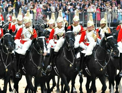 Trooping the Colour at Horse Guards Parade, London