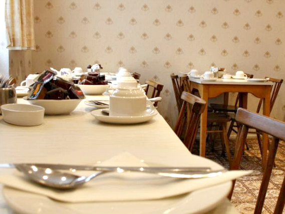 Sit with friends and plan your day in the Breakfast room