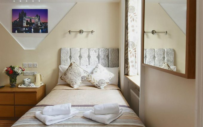 A double room at Linden House Hotel