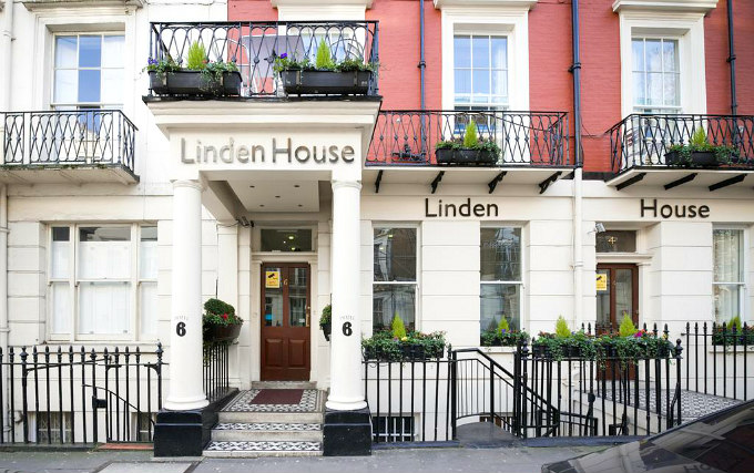 An exterior view of Linden House Hotel