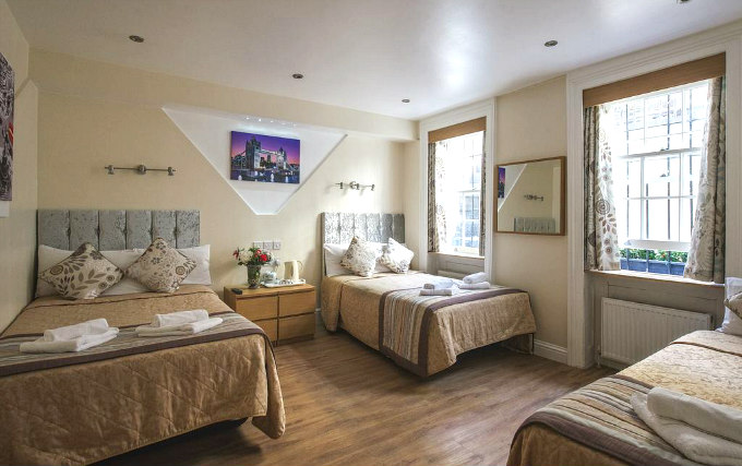 Family room at the Linden House Hotel are great value for money allowing you to spend more exploring London