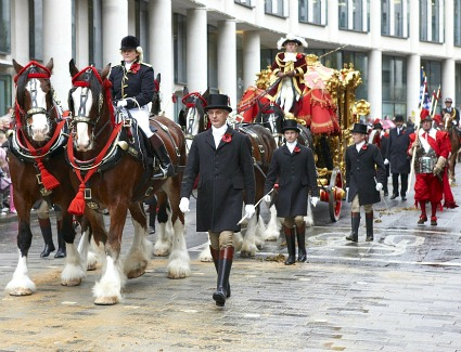The Lord Mayors Show at Mansion House, London