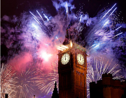 New Years Eve in London 2016, London