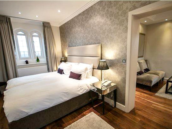 A double room at The Pillar Hotel London is perfect for a couple