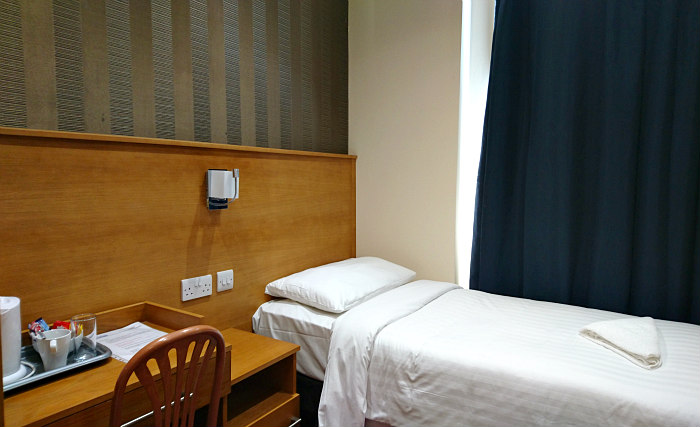 Single room at Mina House Hotel London provide privacy