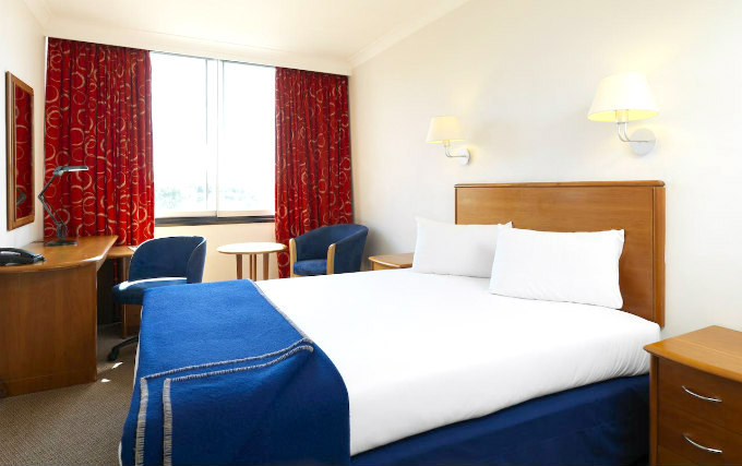A double room at Airport Inn Gatwick