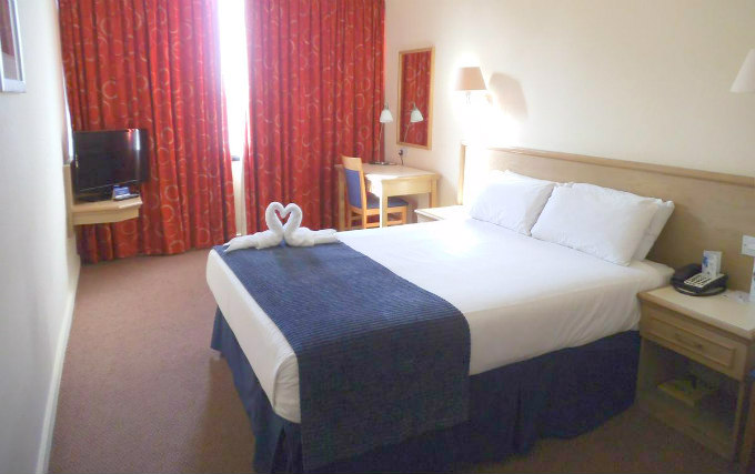 A typical double room at Airport Inn Gatwick