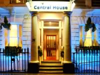 Night time at Central House Hotel, London