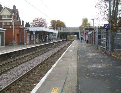 Bush Hill Park Train Station, London
