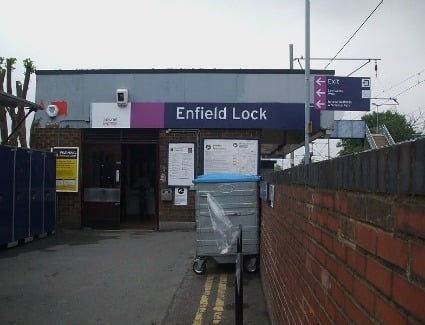 Enfield Lock Train Station London