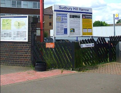 Sudbury Hill Harrow Train Station, London
