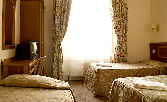 A typical room at Pembridge Palace Hotel London