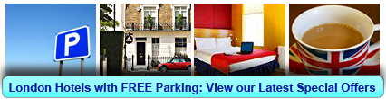 Click here to book a London hotels with FREE Parking now!
