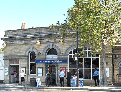 West Brompton Train Station, London
