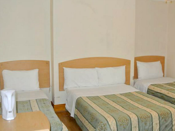 Quad rooms at European Hotel are the ideal choice for groups of friends or families