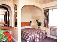 A typical double room at Majestic Hotel