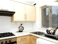 A new clean Kitchen at Manor Road Cottage
