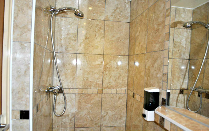 A typical shower system at Carlton Hotel