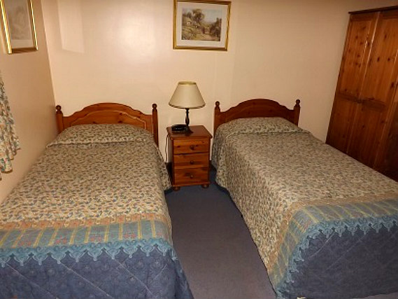 A twin room at Cottage Guest House is perfect for two guests