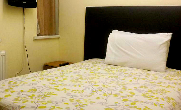 A typical single room at Barking Park Hotel