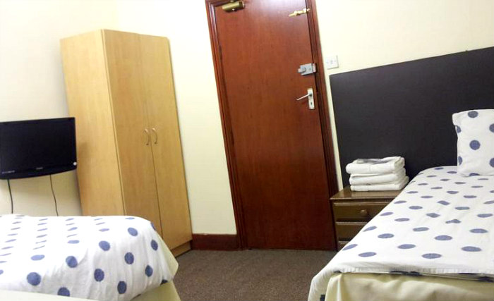 A typical twin room at Barking Park Hotel