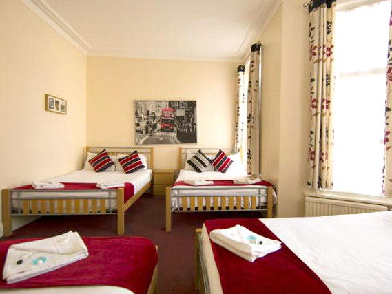 Family rooms at the Golden Strand Hotel are great value for money allowing you to spend more exploring London