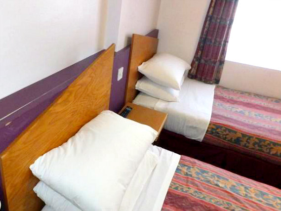 A typical twin room at Dover Hotel London