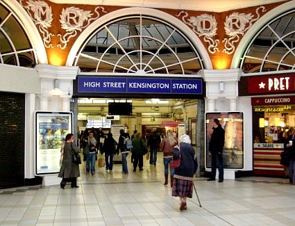 High Street Kensington Tube Station, London